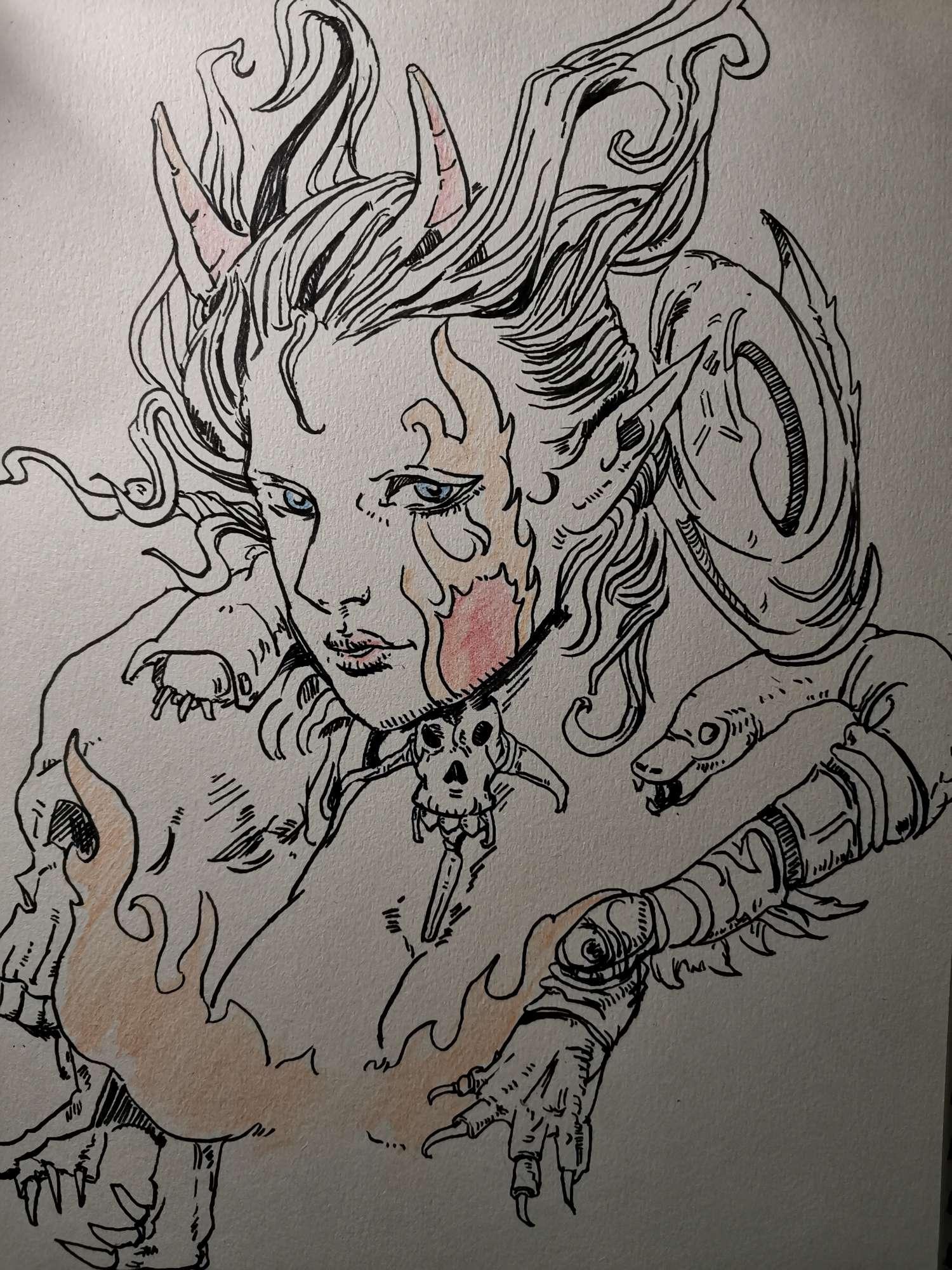 【手绘】临摹的一个大佬的画-小柚妹站