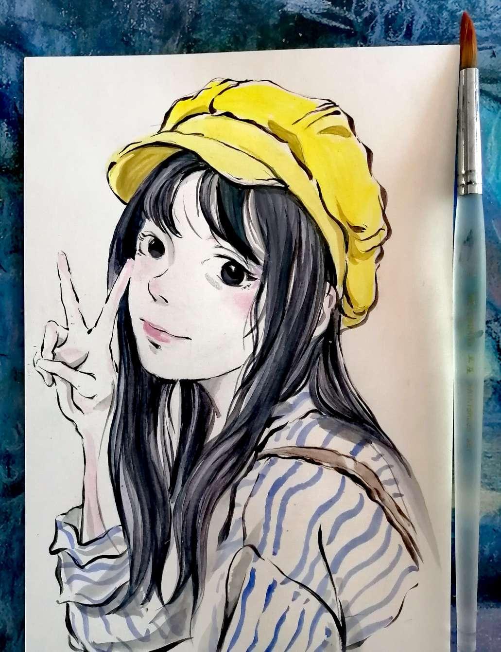 【手绘】女孩,痴母漫画acg