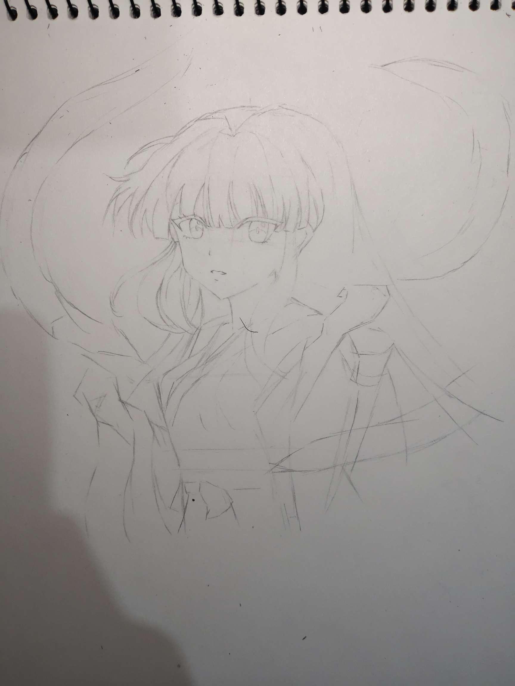 【手绘】桔梗,二次元半脸图