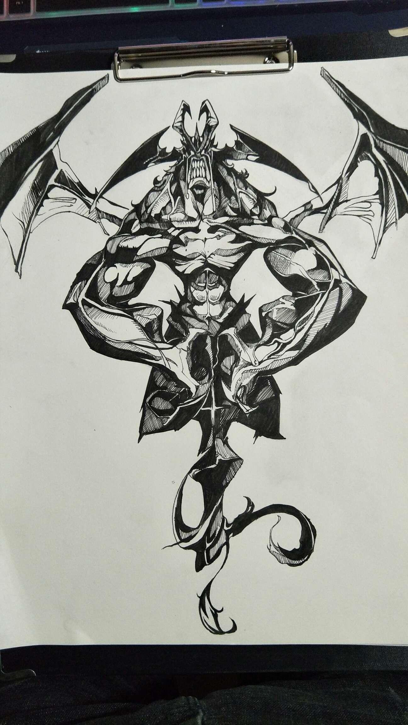 【手绘】恶魔人,性感二次元黄漫