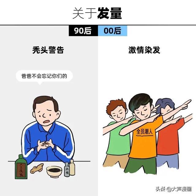 【漫画】90后vs00后