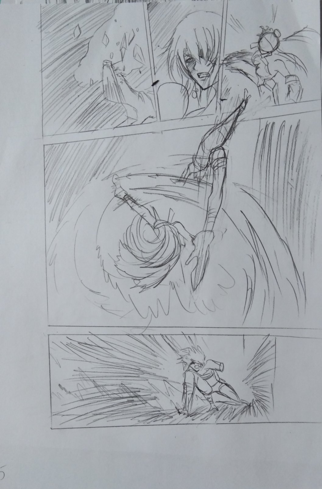 【手绘】分镜练习1,男主穿越异世界开挂的漫画