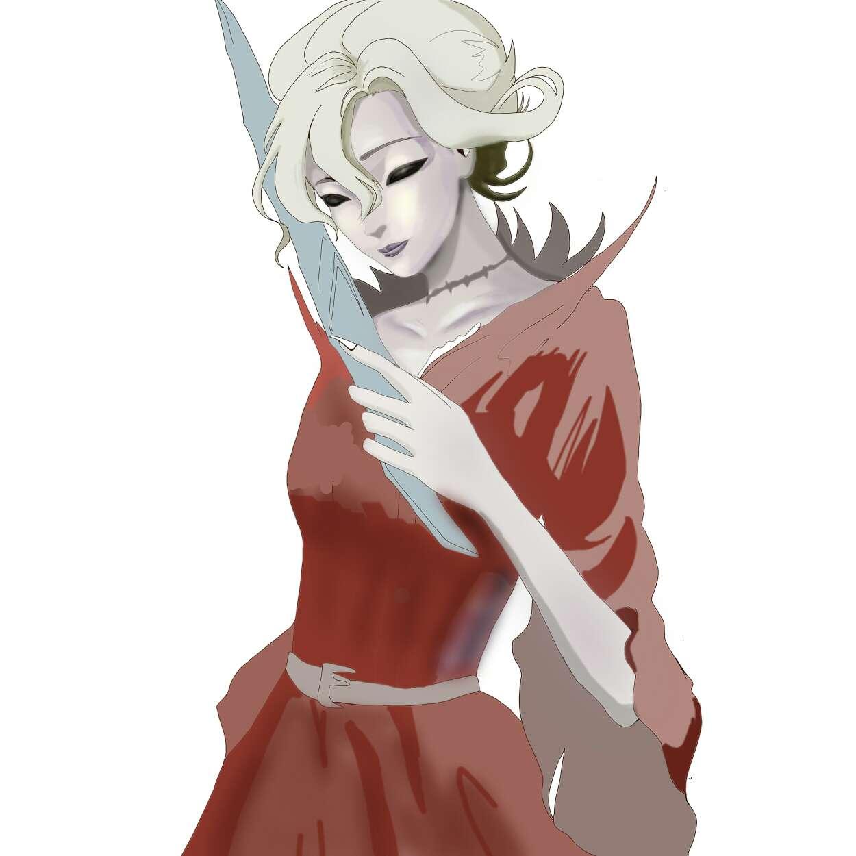 【指绘】红夫人(半成品)