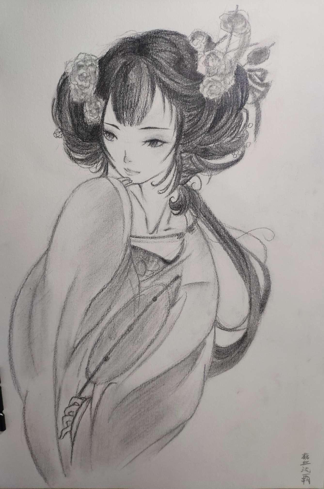 【手绘】国风小姐姐,情侣头像二次元唯美