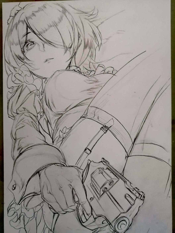 【手绘】丽塔(未完待续)-小柚妹站
