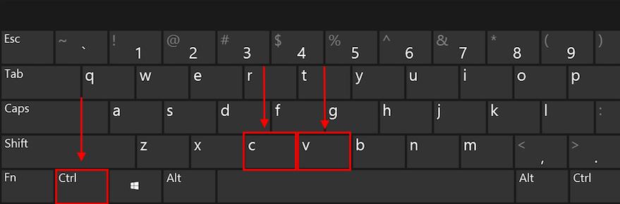 如何使用电脑复制粘贴快捷键
