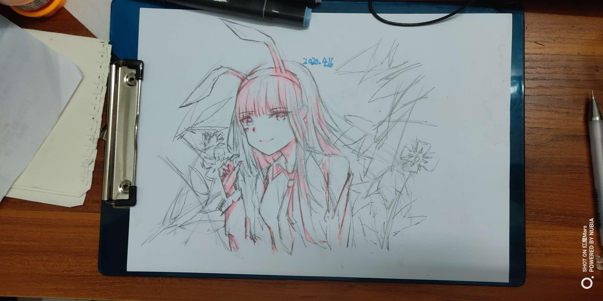 【手绘】随笔画,二次元美女啪啪污漫-小柚妹站