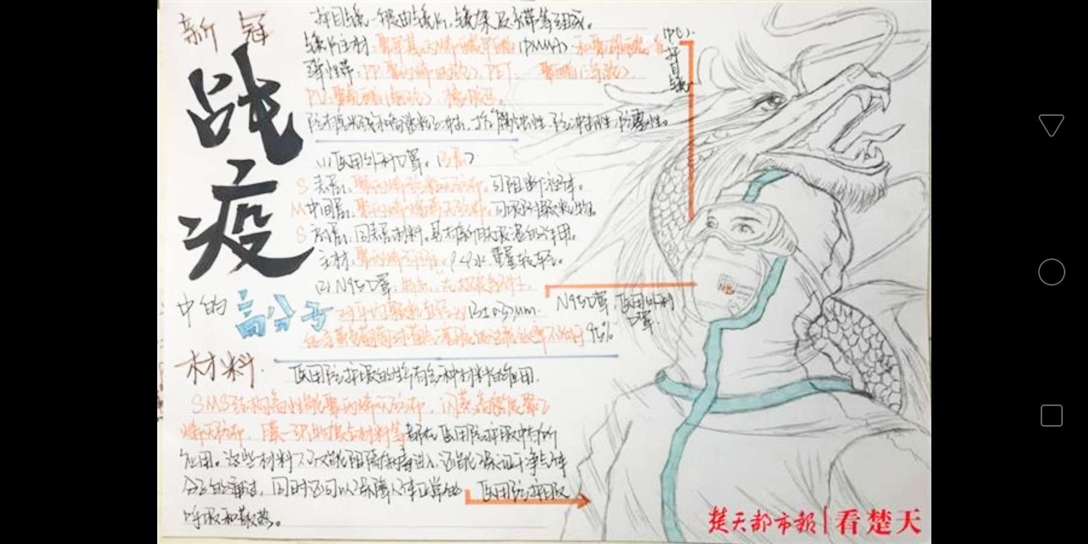 【求助】抗疫手抄报,龙傲天类的日本动漫