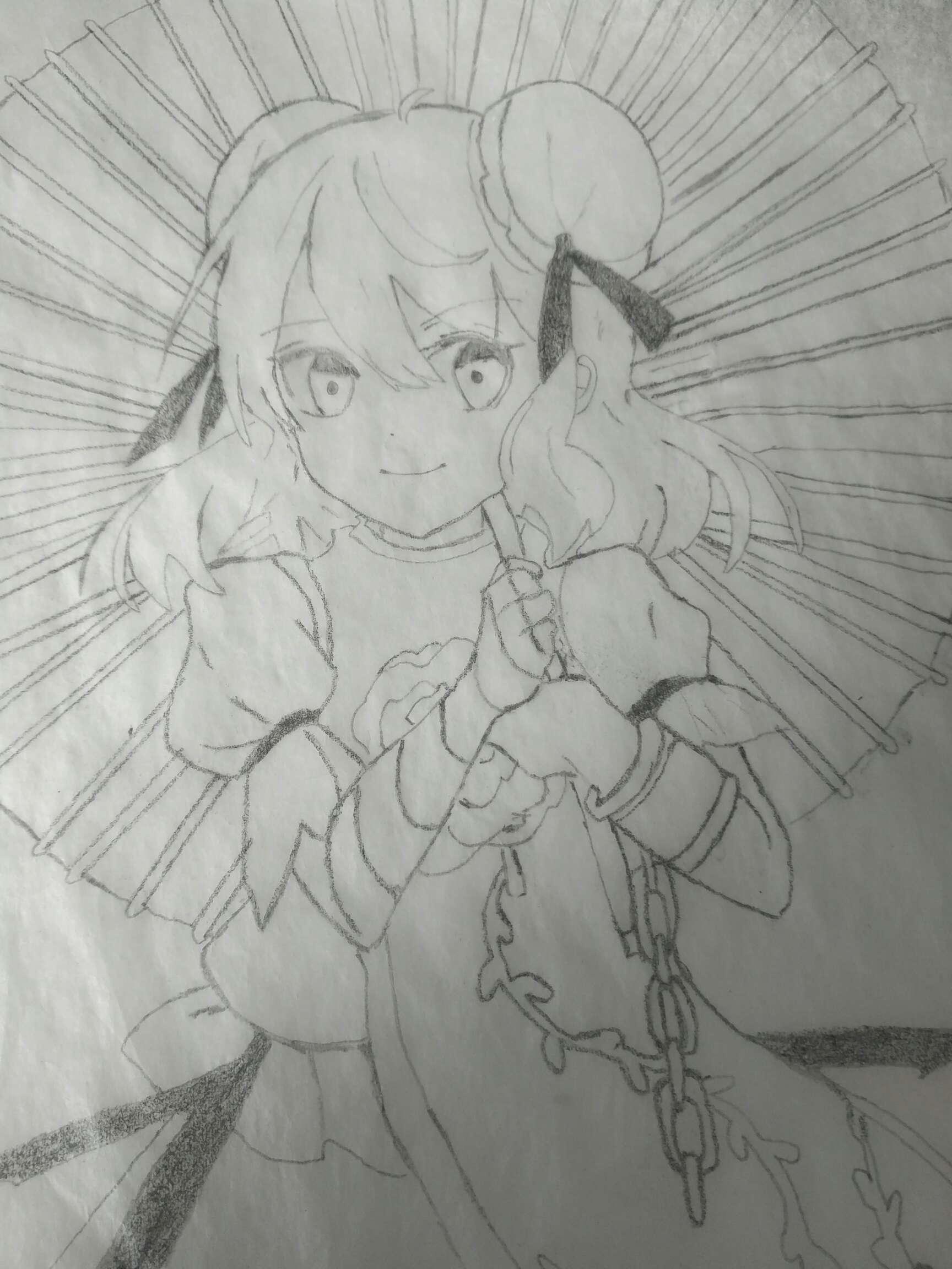 【手绘】独臂有角的仙人――茨木华扇