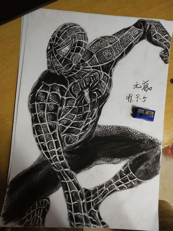 【手绘】蜘蛛侠,疯狂输出白丝小学生小说