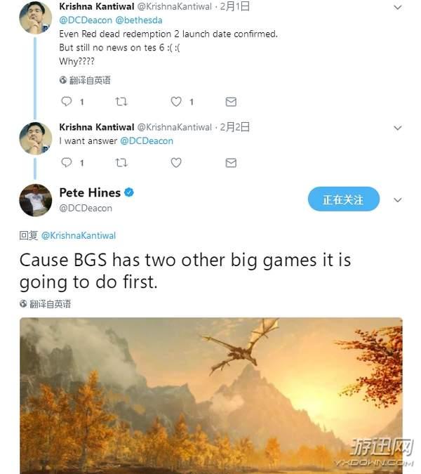 【游戏资讯】B社:《上古卷轴6》公布之前,还要开发两款全新游戏