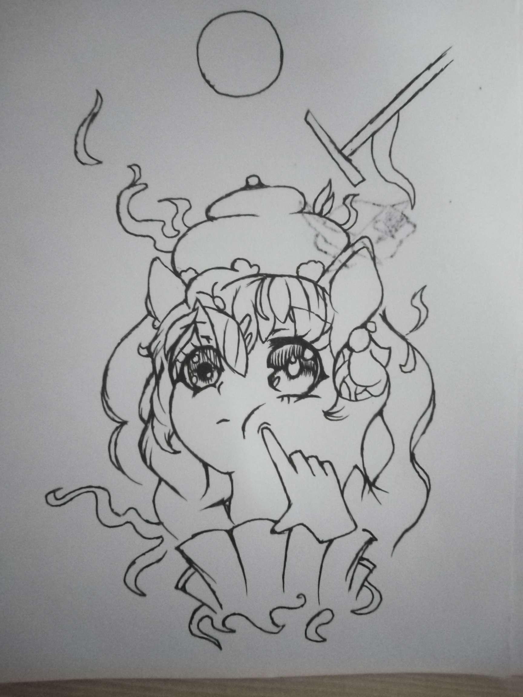 【手绘】萌新画画。,小狐妖邪恶漫画