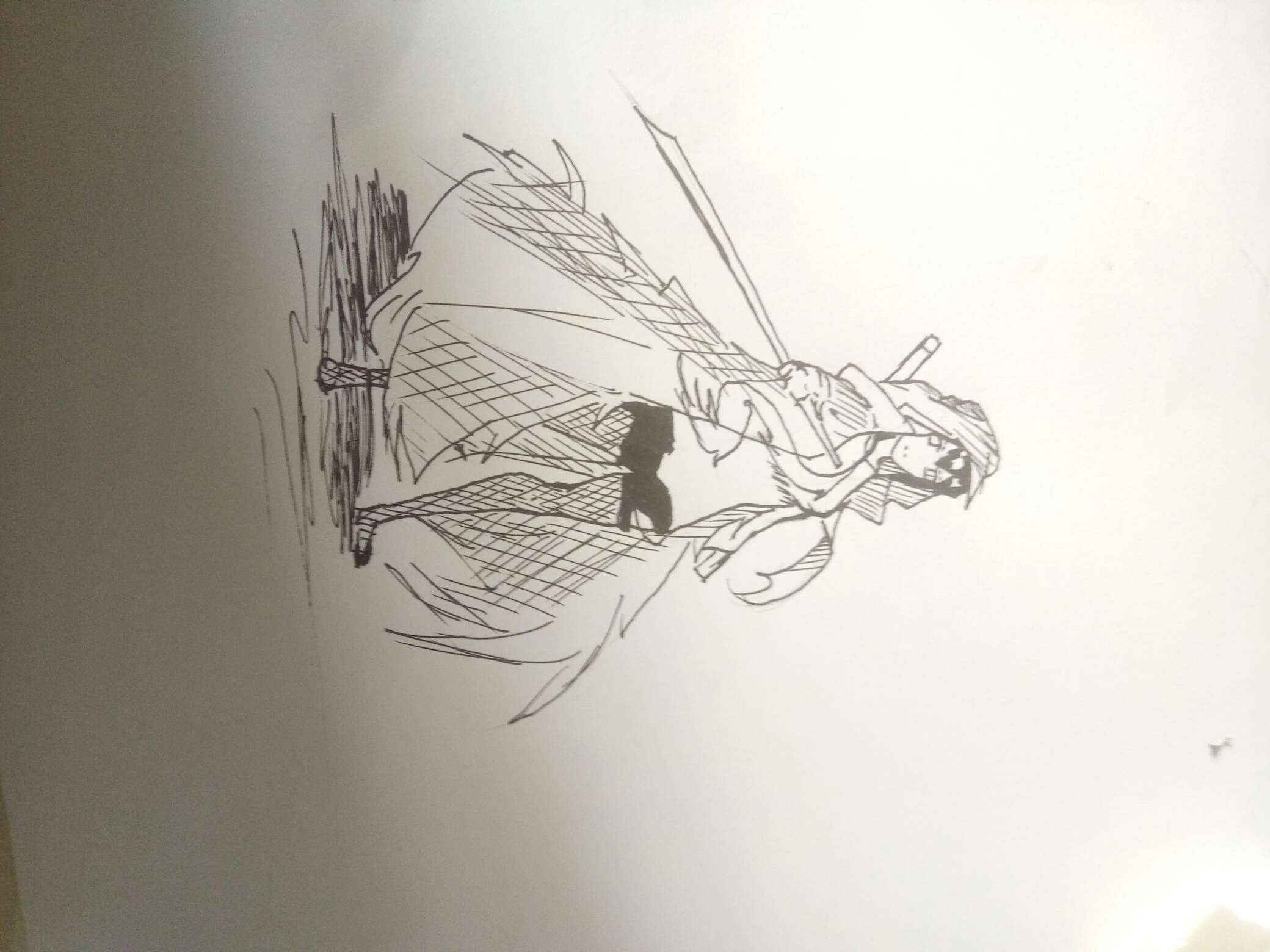 【手绘】原创缝合怪,可爱和尚漫画图片