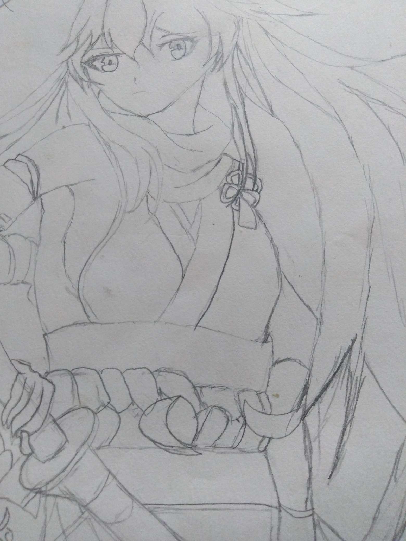 【手绘】 残稿,从前有作灵剑山神漫画