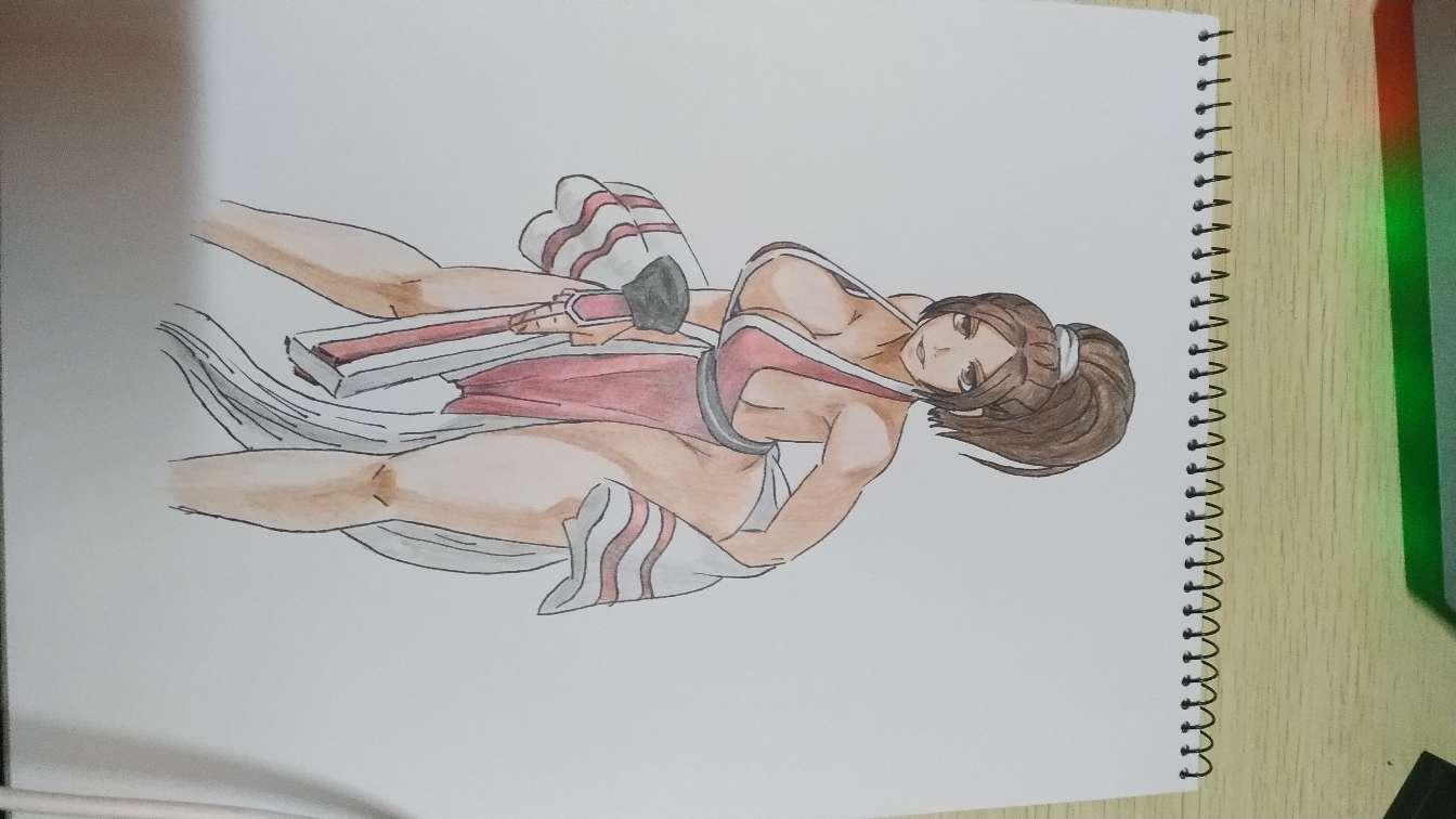 【手绘】日常彩铅,动漫女皇图片
