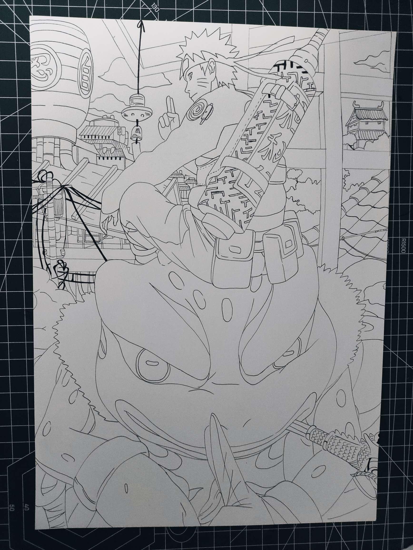 【手绘】两张线稿!,银魂的电影版哪里能看-小柚妹站