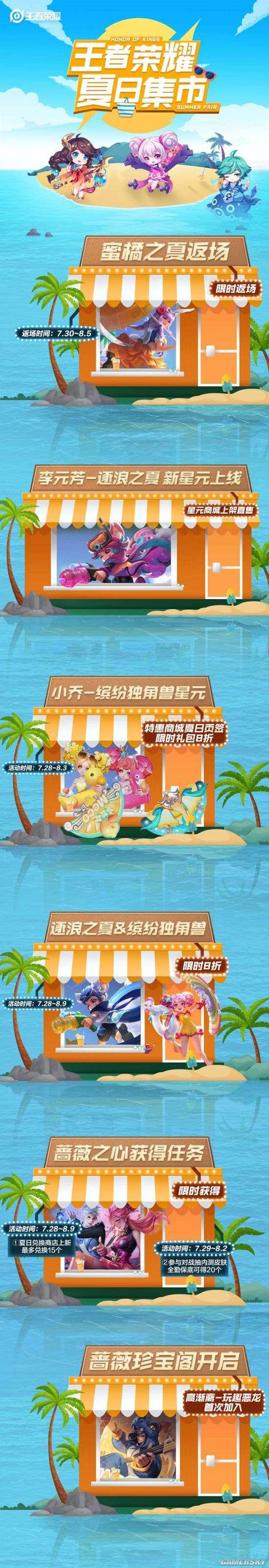 《王者荣耀》夏日集市 一图了解夏日活动