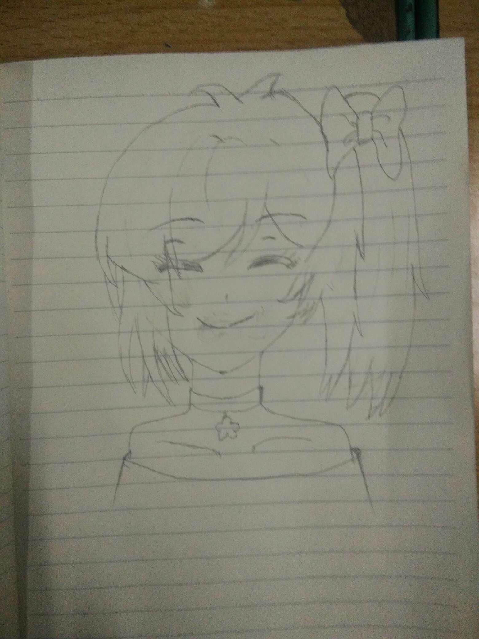 【手绘】练习绘画第一天-小柚妹站