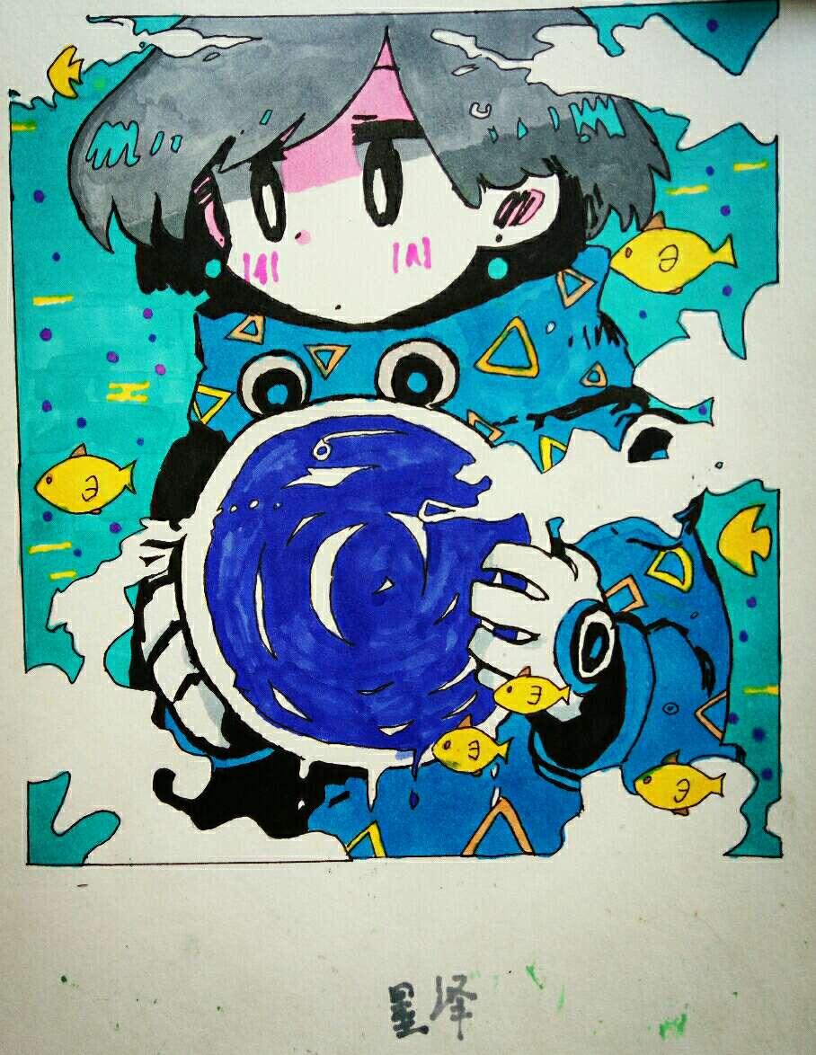【手绘】马克笔,二次元动漫图片萌动漫