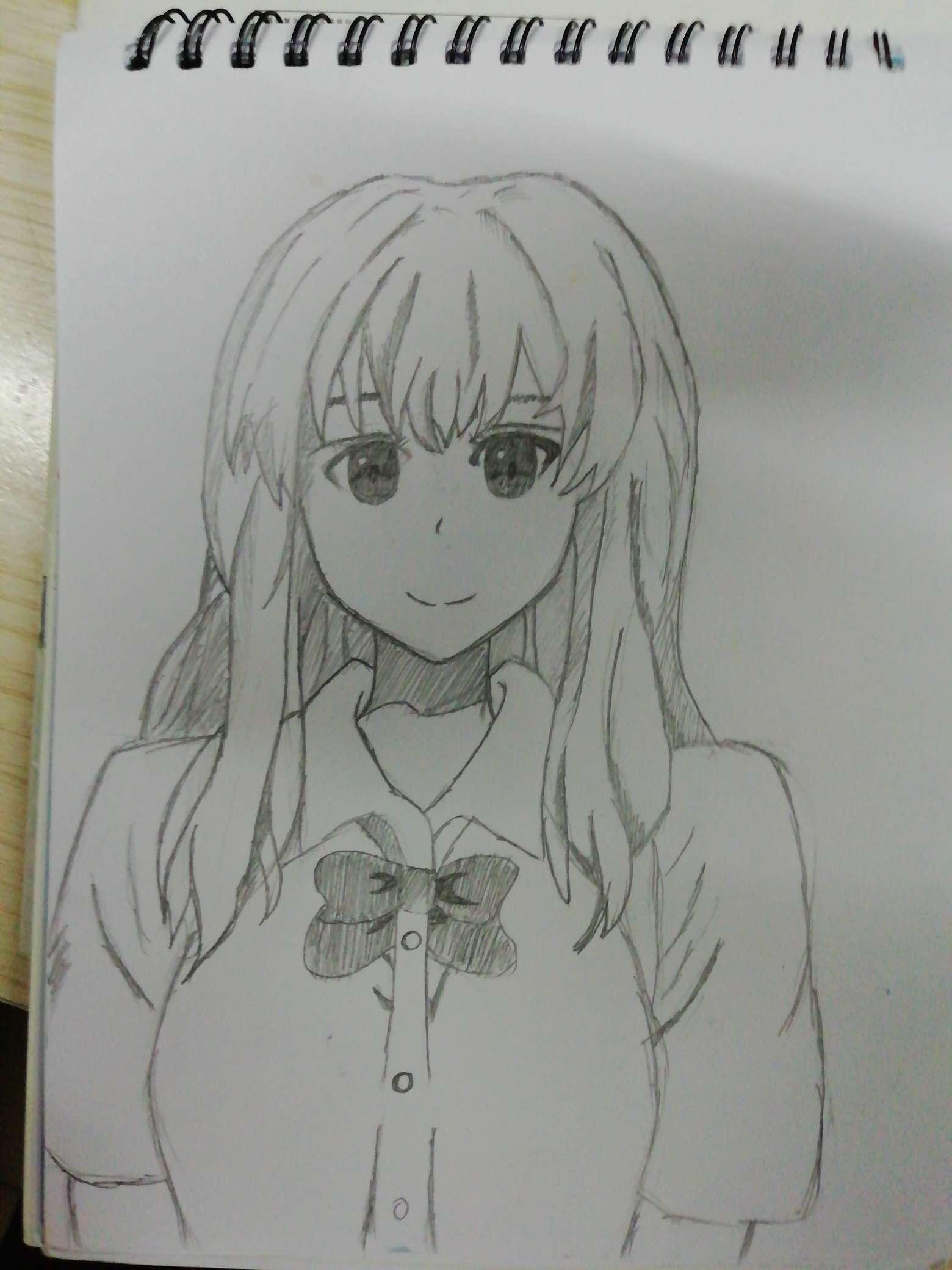 【手绘】自己学着画的-小柚妹站