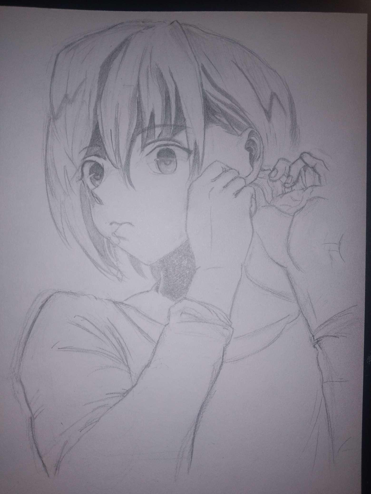 【手绘】画一个男孩子