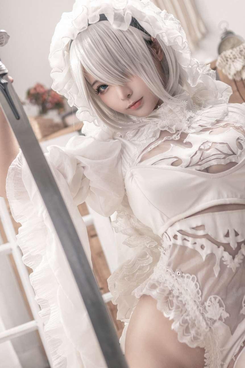 【cosplay】黑白花嫁 27P-小柚妹站
