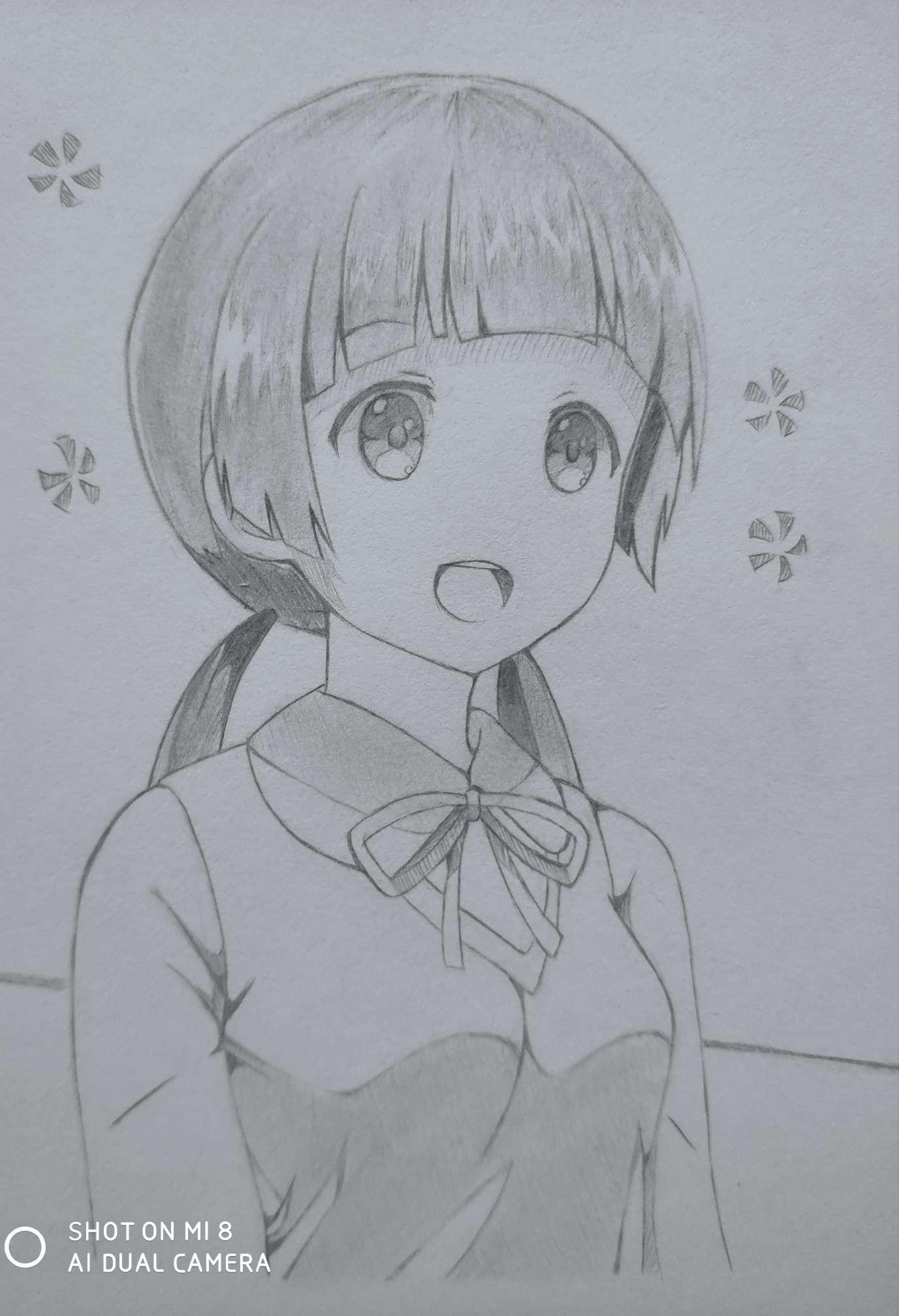 【手绘】艳阳高照心情不好---小柚妹站