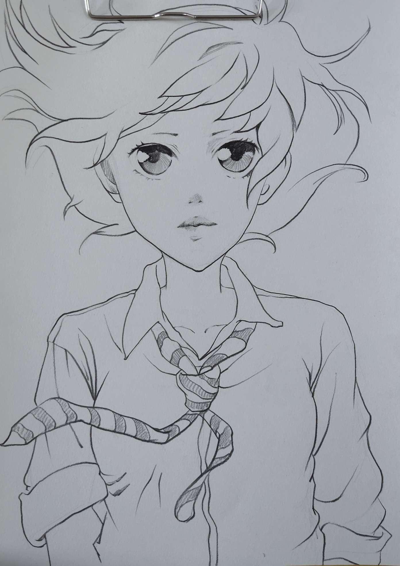 【手绘】一日一张漫画-小柚妹站