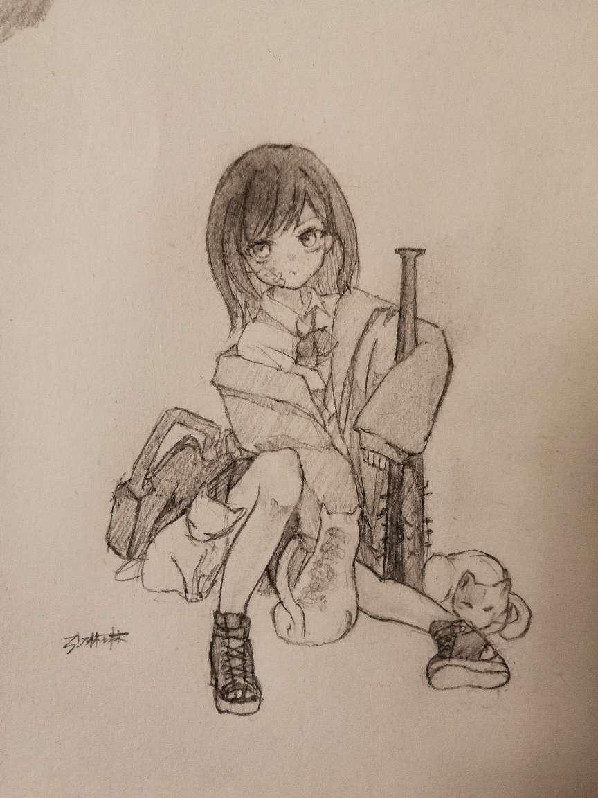【手绘】狼牙棒,邪恶漫画之老师请一点-小柚妹站
