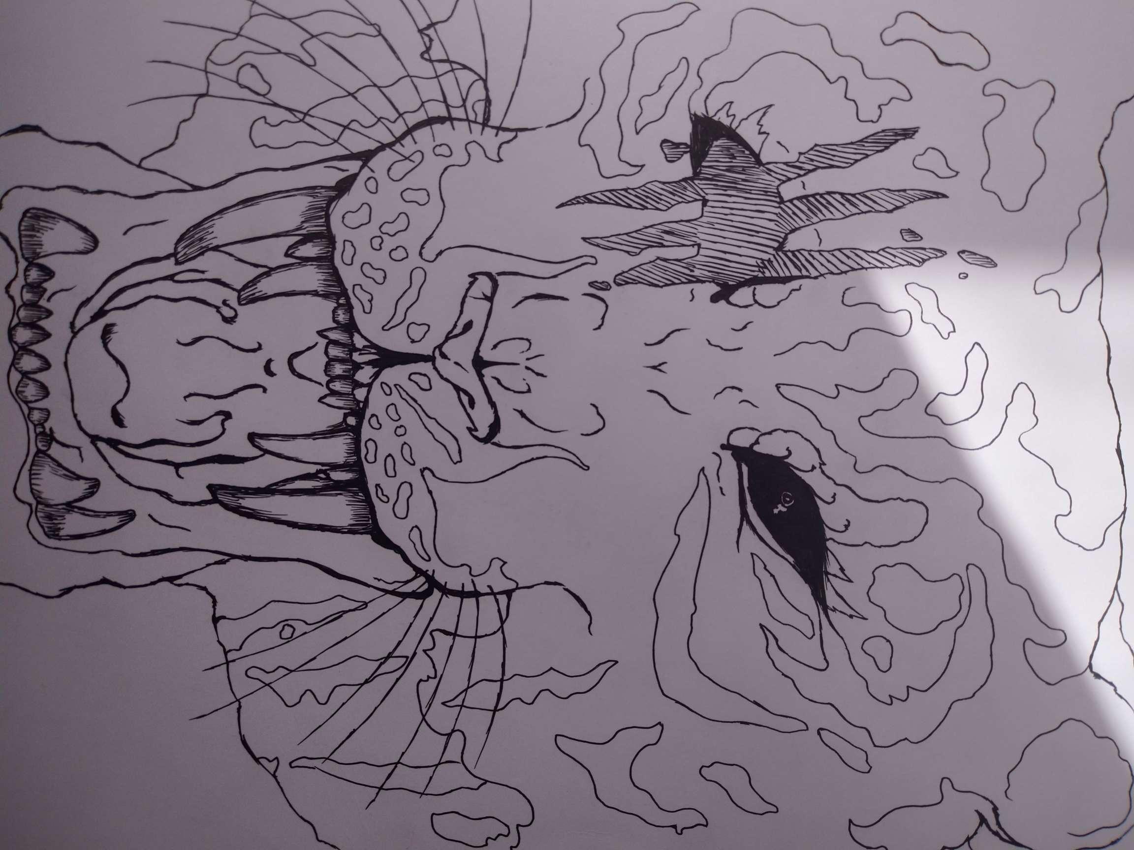 【手绘】画画,中性笔画