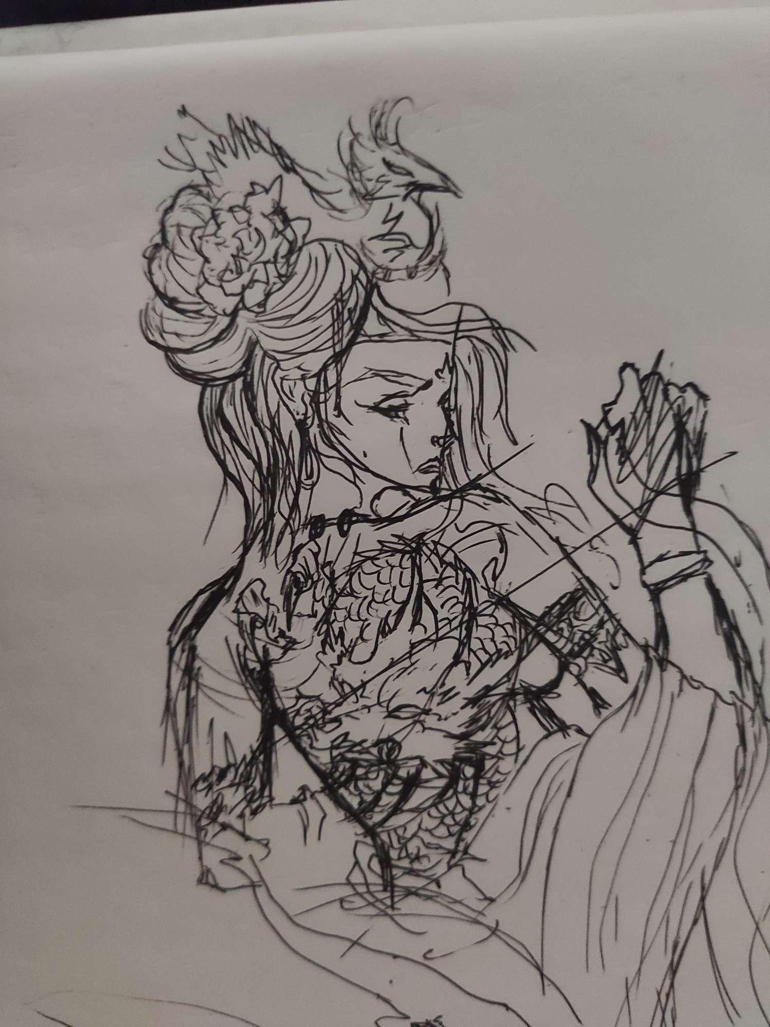 【手绘】一时兴起没毛病吧  抽象龙姬-小柚妹站