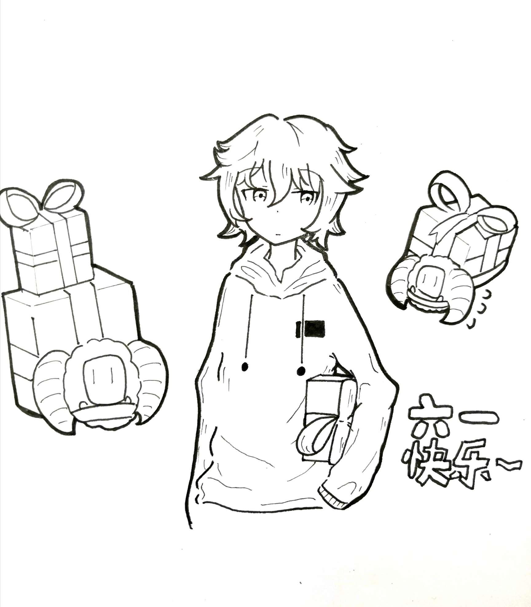 【手绘】六一快乐~,日本二次元漫画大全