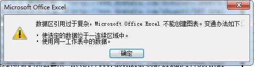 Excel数据区引用过于复杂不能创建图表解决方法