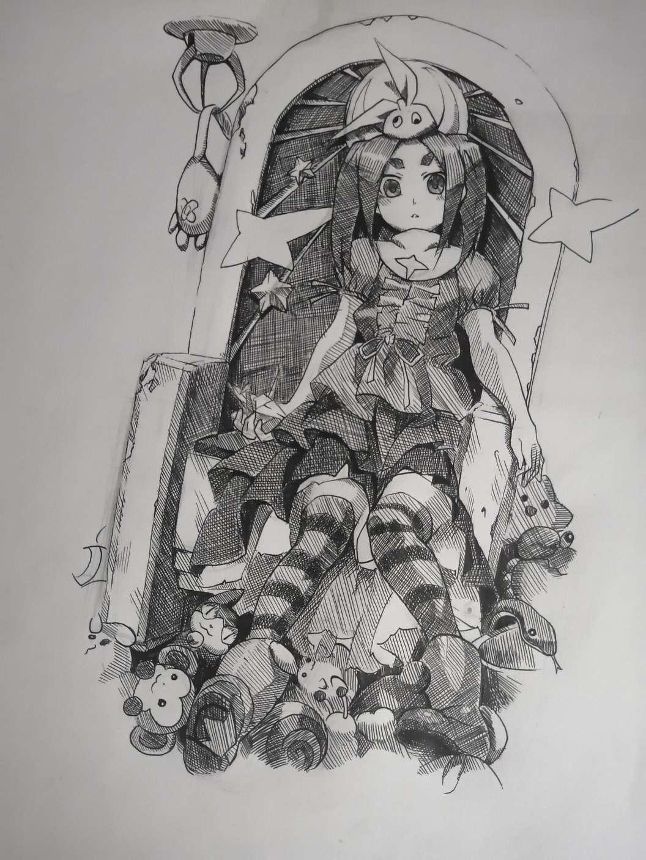 【手绘】斧乃木余接,制造陷阱里番