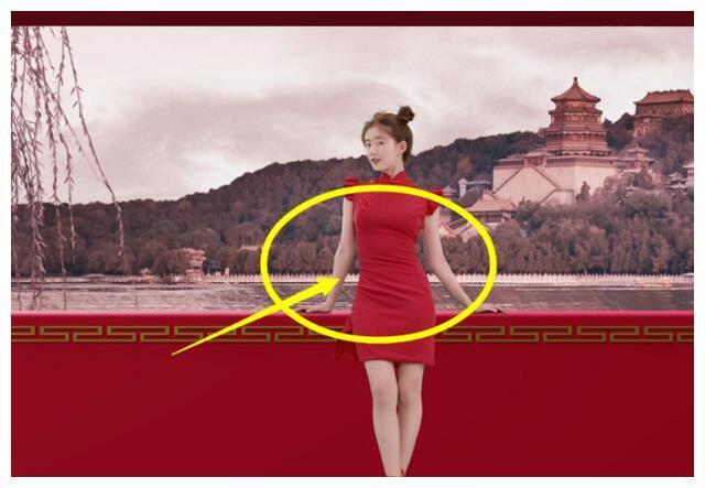 都不信赵露思不到80斤,当她穿上小一号旗袍,这腰我P都无