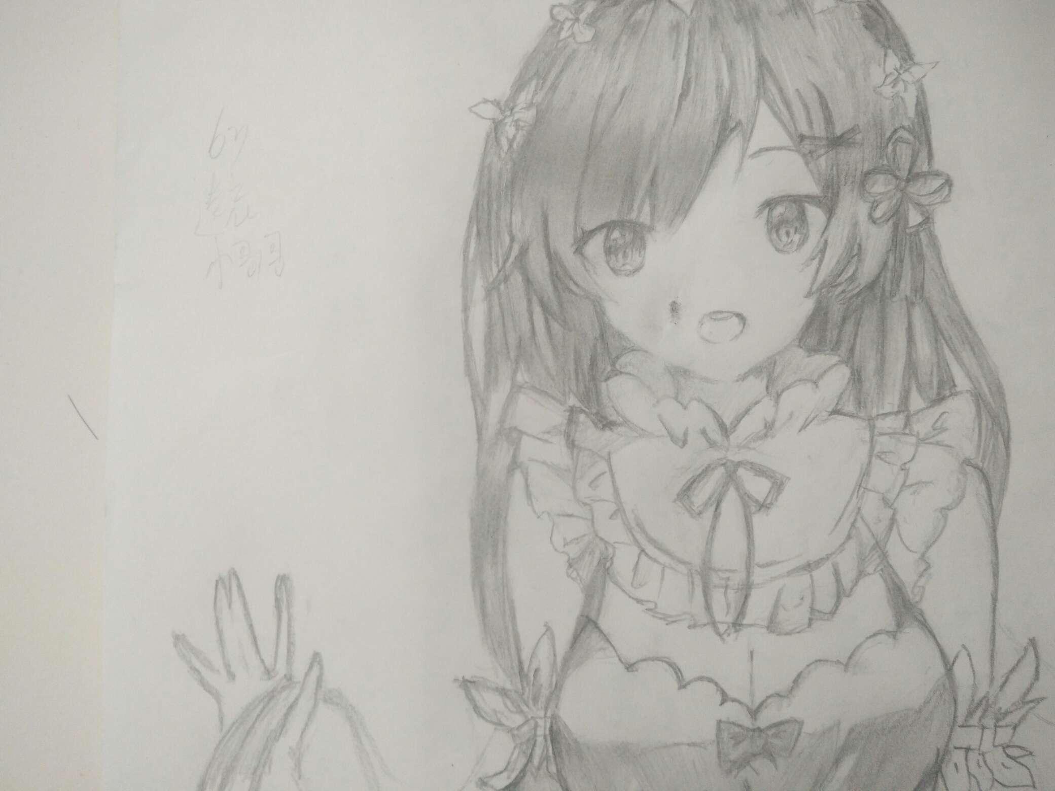 【手绘】画个雷姆,我的二次元为什么是女仆店
