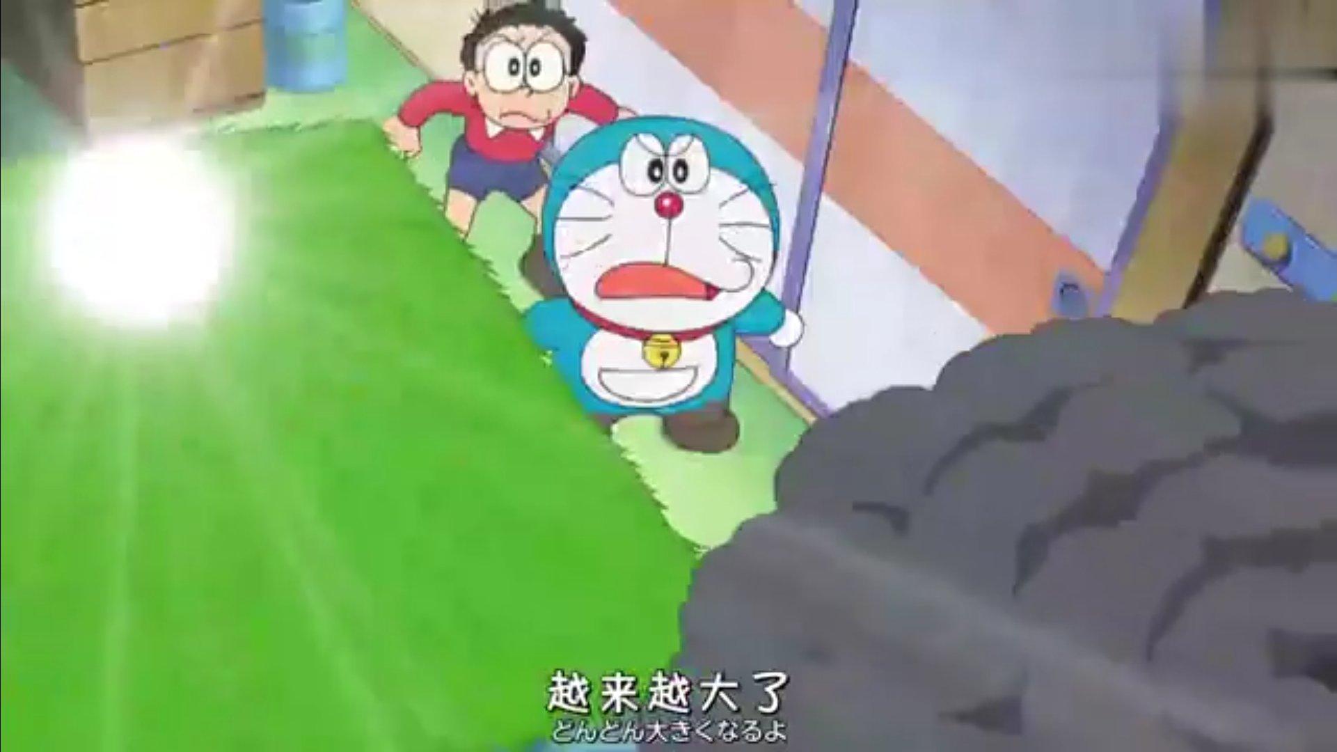 【视频】哆啦A梦和大雄在卧室里种水稻做年糕,遇到好多自然灾害,真