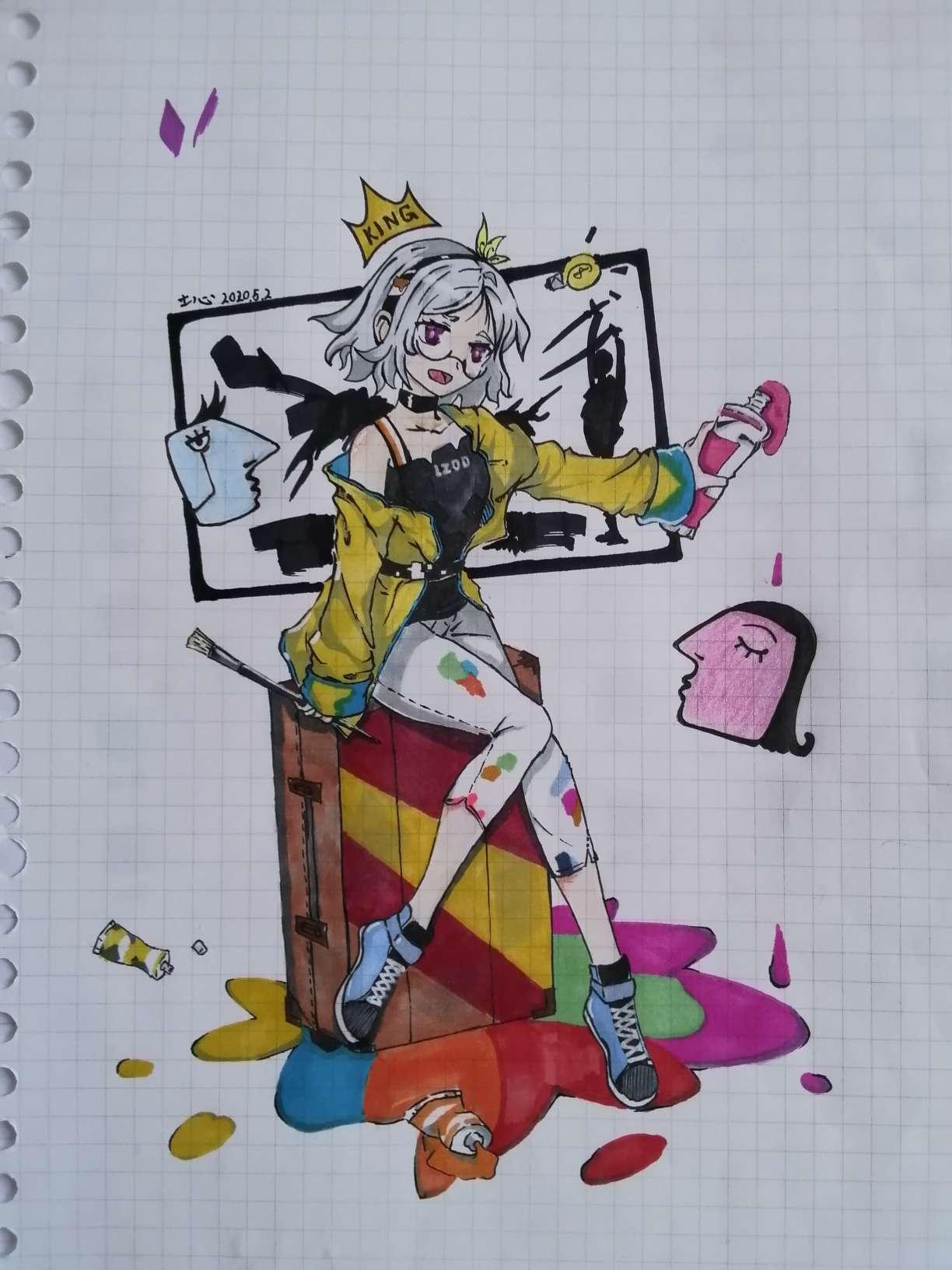 【手绘】一个人要历经漫长的时间,才能培养出年轻的心 ——毕加索-小柚妹站