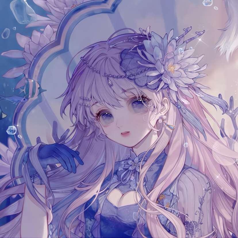【图片】紫色系列女生头像-小柚妹站