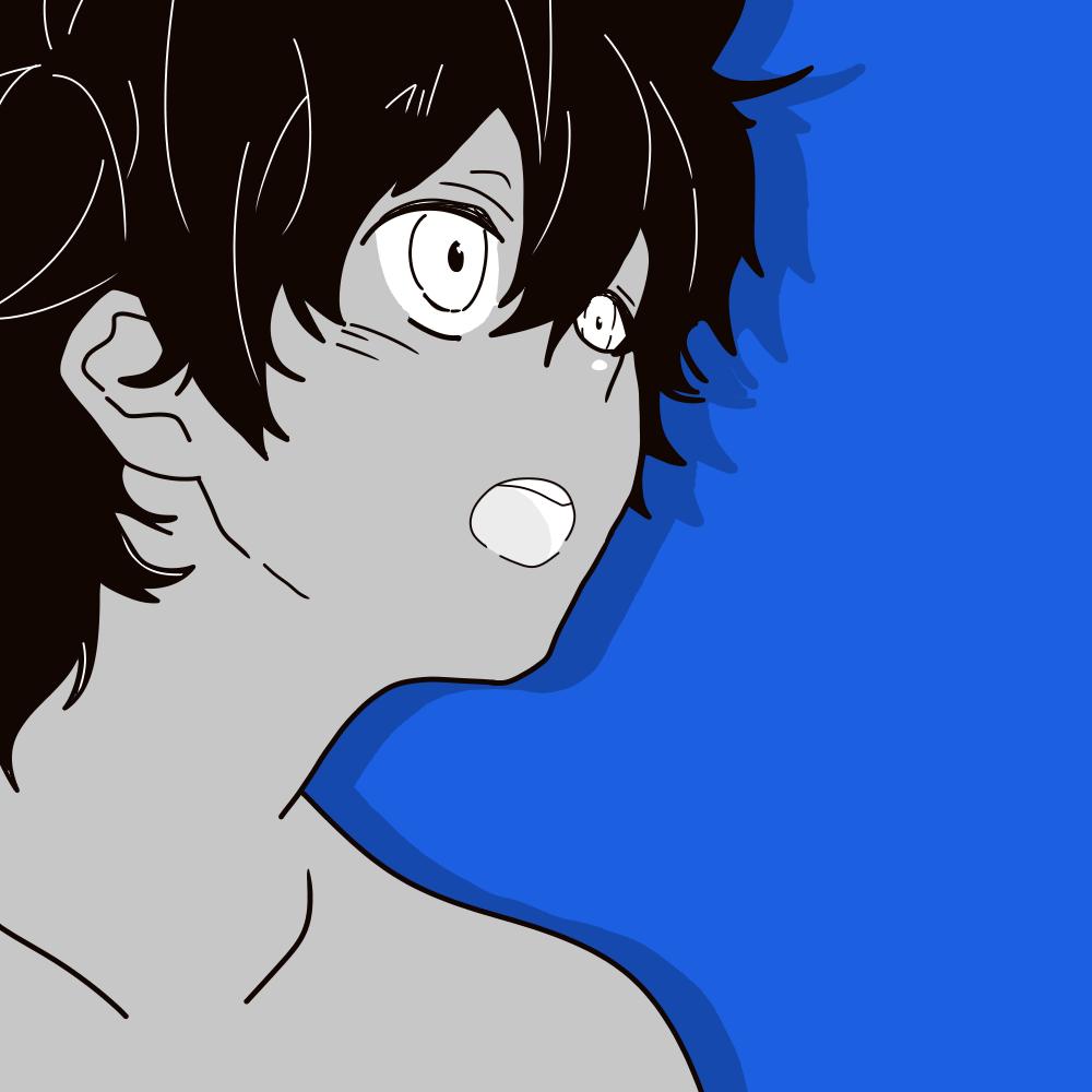 【指绘】纯纯纯蓝灰少年