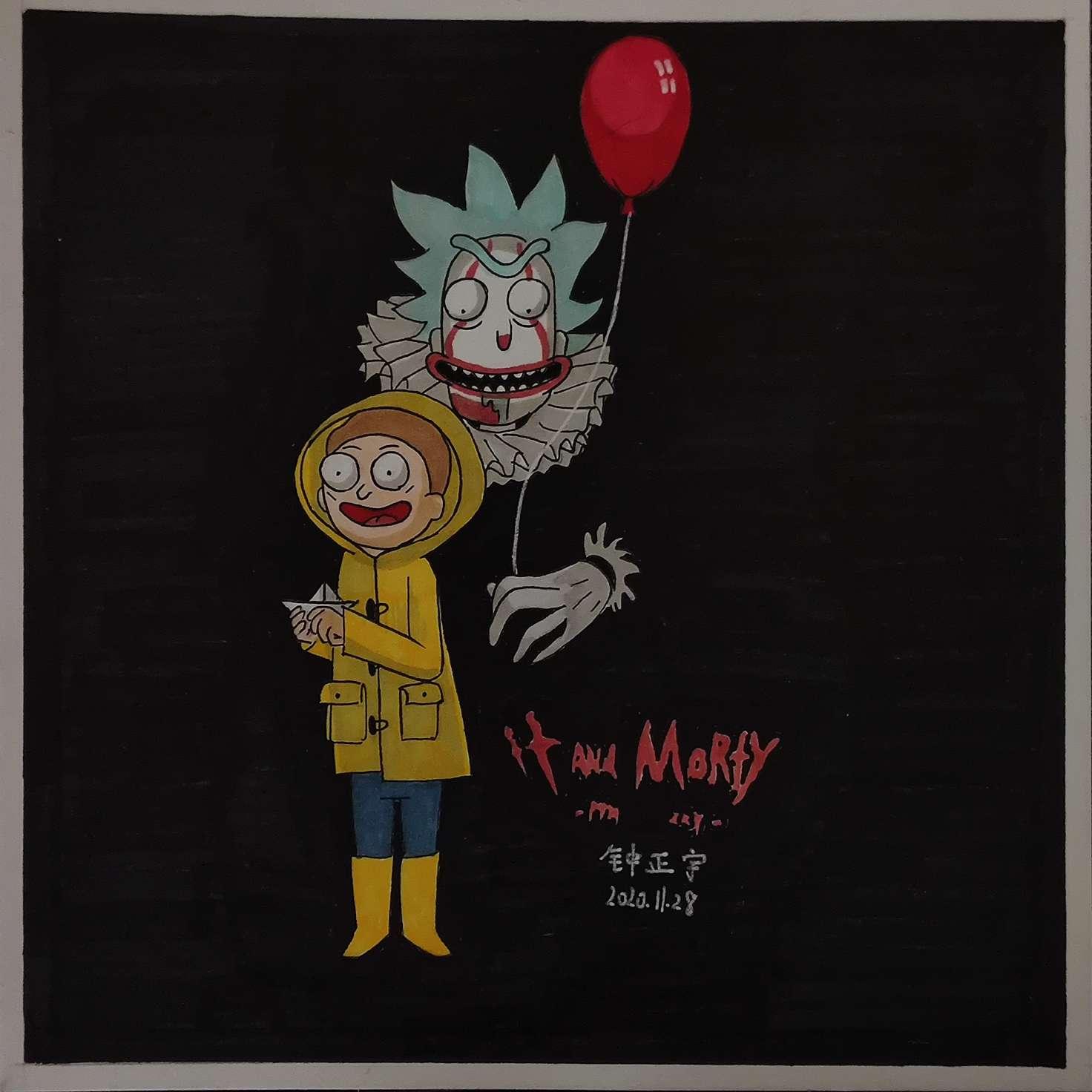 【手绘】瑞克和莫蒂插画