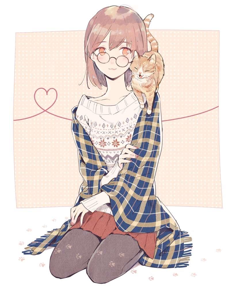 【跨年】眼镜娘2,地震了惊讶的卡通图片-小柚妹站