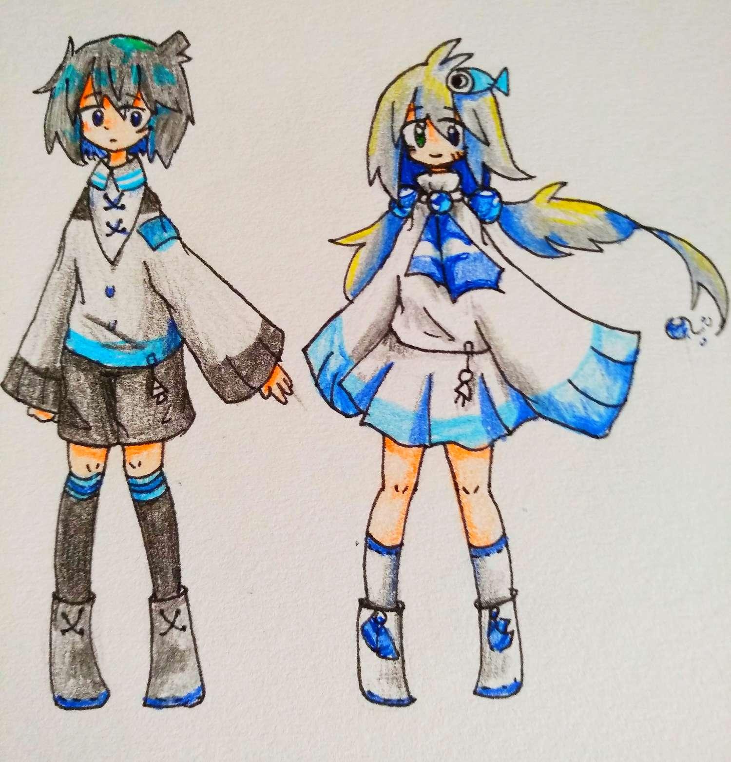 【手绘】《关于我放学路上遇到人鱼女孩子这件事》-小柚妹站