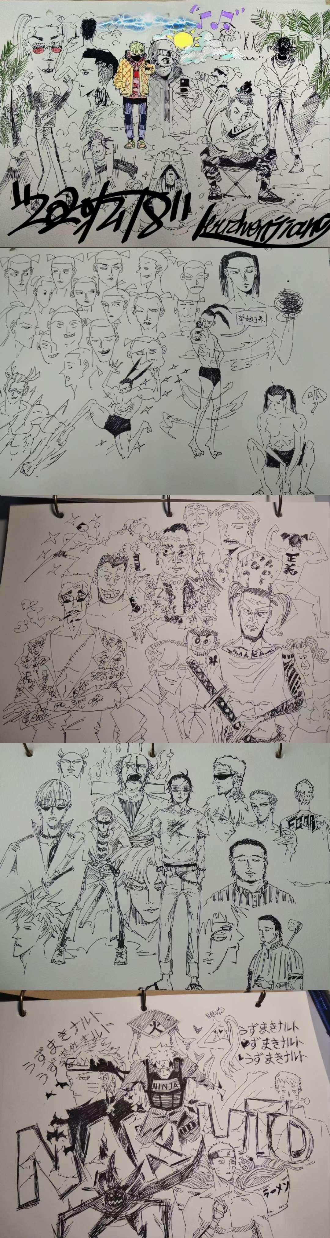 【手绘】自画漫画素描(首发)-小柚妹站