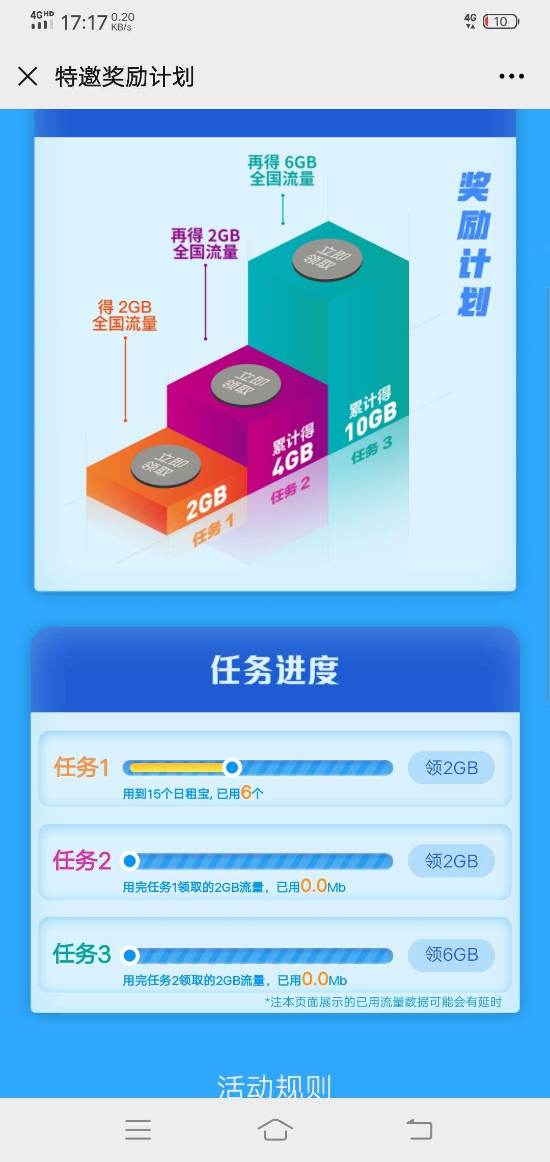 腾讯王卡特邀奖励计划得流量