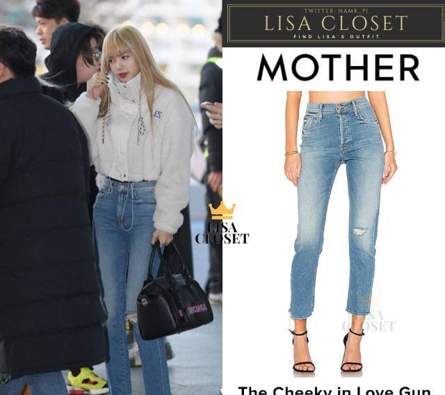 被Lisa惊艳到了,把牛仔裤穿出女神范,这腿是真实存在的