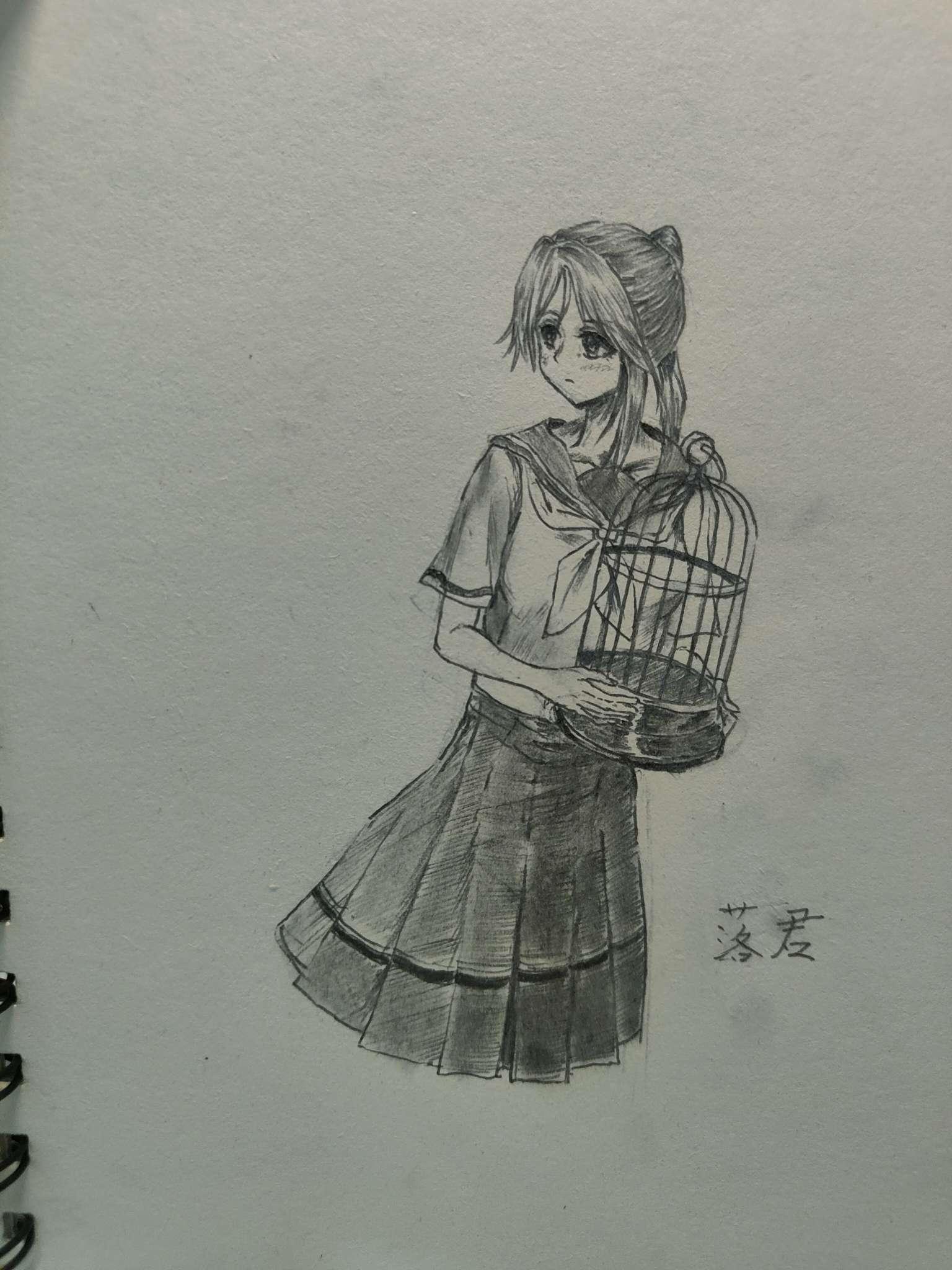 【手绘】摸个希美和霙练手-小柚妹站