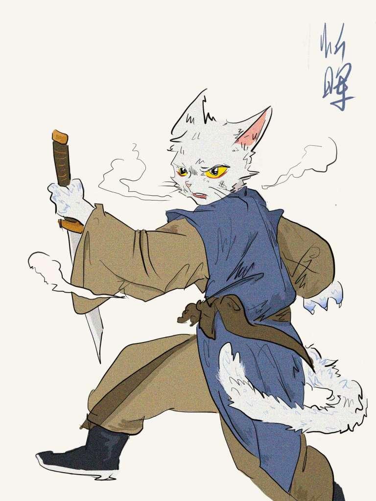 【板绘】猫爷,冷血超酷动漫情侣头像