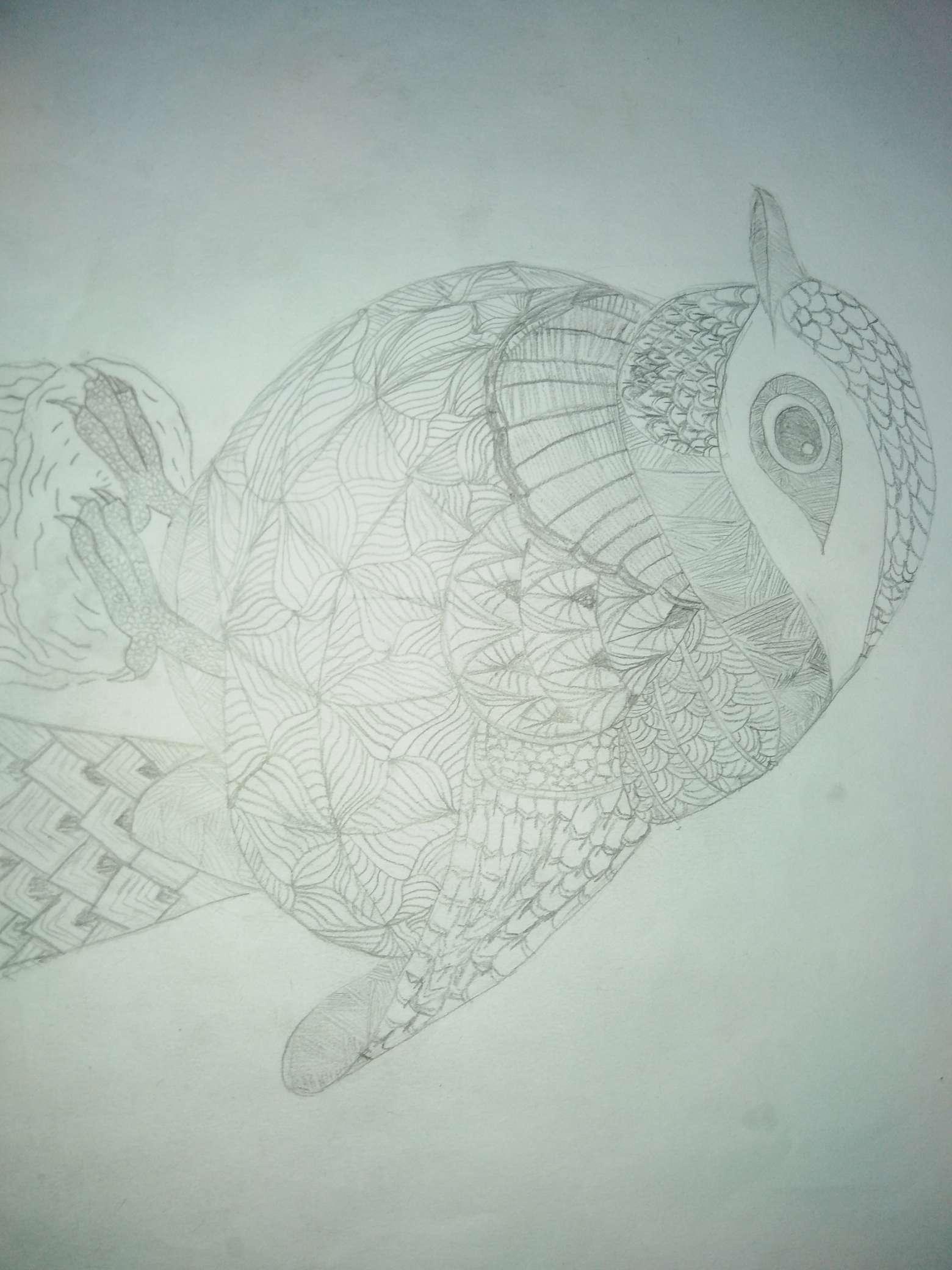 【手绘】手绘线描画草稿-小柚妹站