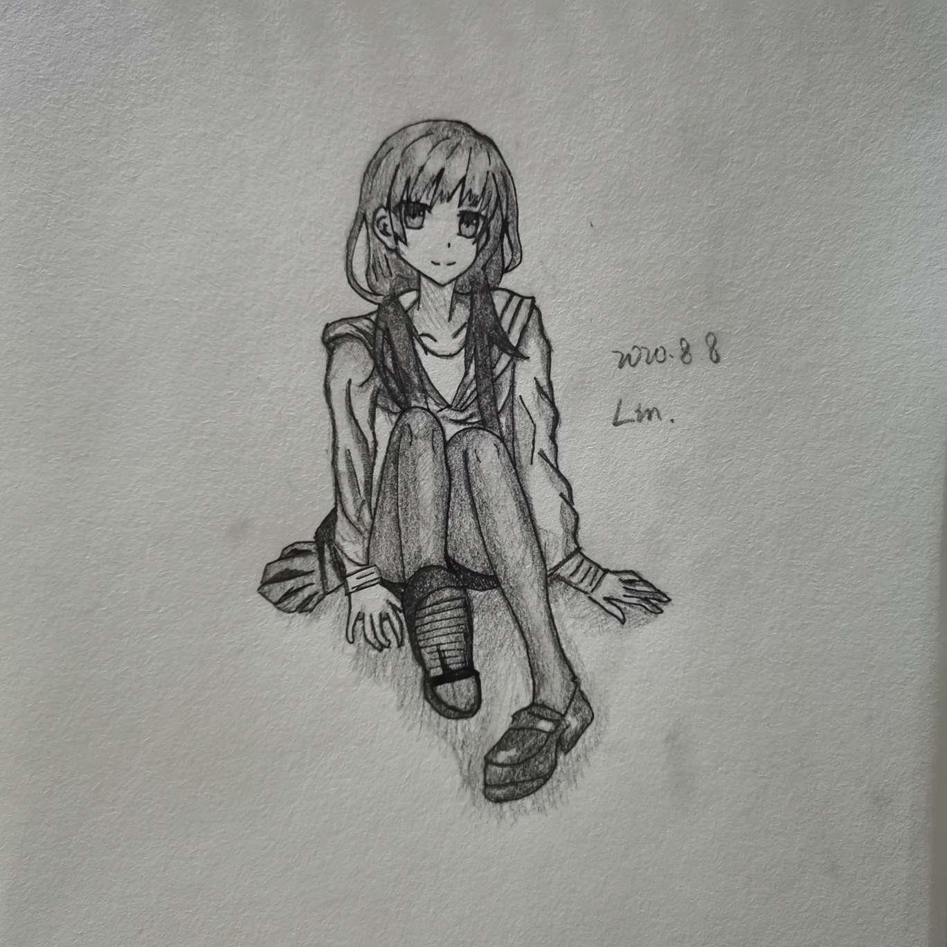 【手绘】不知名少女,日本邪恶漫画姐姐拉屎-小柚妹站